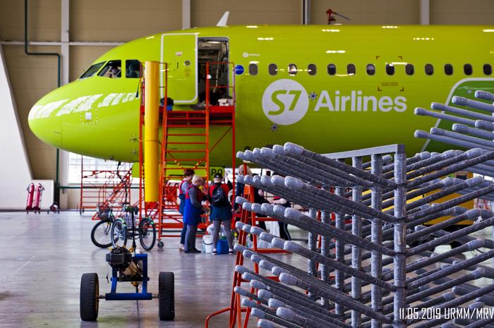 S7 Technics S7, Airbus, Репортаж, Авиация, S7airlines, Самолет, Техника, Длиннопост