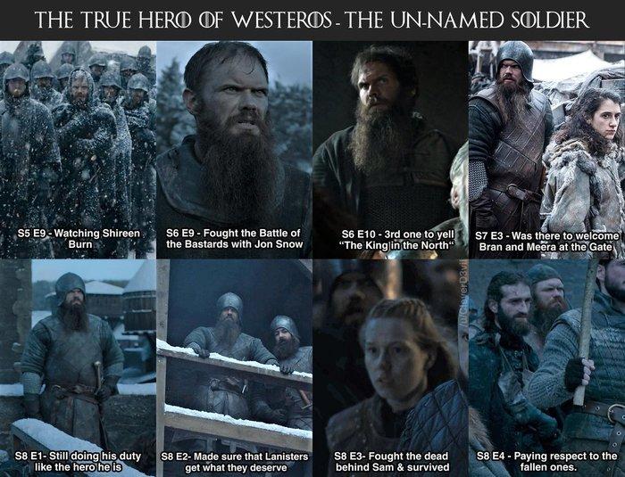 ,Выжил ли наш безымянный солдат, герой Севера? Игра престолов, Спойлер