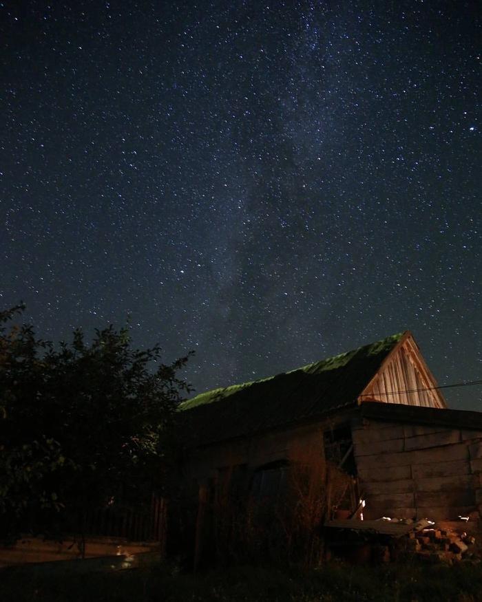 Небо вдалеке от цивилизации Небо, Млечный путь, Деревня, Ночь, Красота, Природа, Звездное небо
