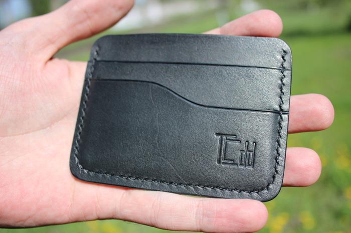 Лёгкий кошелёк(кардхолдер) Кожа, Ручная работа, Рукоделие без процесса, Кожаный кошелек, Длиннопост