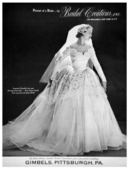 Винтажные невесты, 1950-е Винтаж, Красивые платья, Свадебное платье, 50-е, Мода, Длиннопост