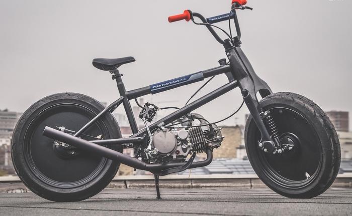 Гибрид Honda Cub и BMX велосипеда Мото, Велосипед, Bmx, Custom, Самоделки, Творчество, Инженер, Гараж, Длиннопост