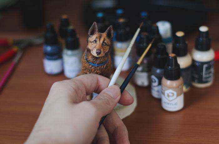 Процесс Скульптура, Полимерная глина, Miniature, Акрил, Figurative
