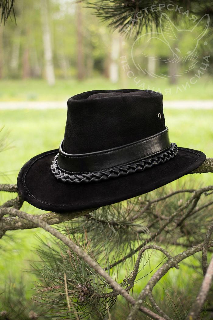 Черные городские шляпы Ручная работа, Шляпа, Кожа, Крафт, Своими руками, Длиннопост, Рукоделие без процесса, Изделия из кожи