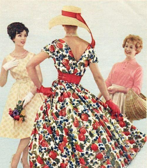 Платья 1950 Мода, Винтаж, Красивые платья, 50-е, Длиннопост