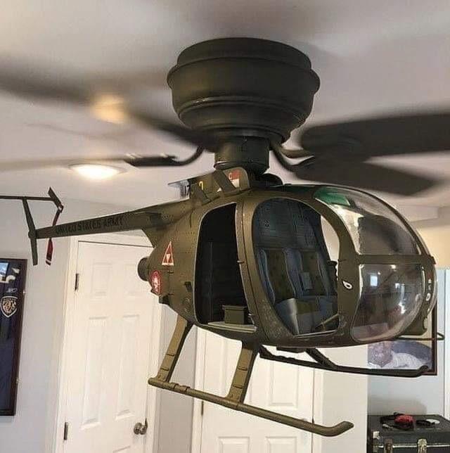 Потолочный вентилятор в виде вертолёта 1/6 размер