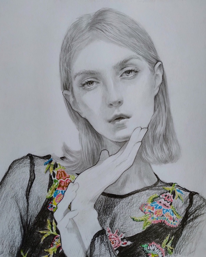 Скетч. Рисунок, Портрет, Девушки