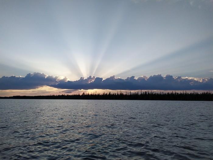 Закат в облаках Фотография, Пейзаж, Закат, Небо
