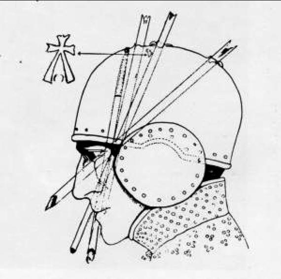 Шлем из под стен Падуи Лига историков, Шлем, 15 век, Италия, Длиннопост