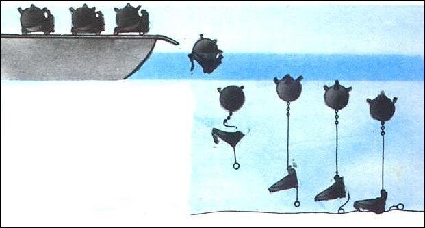 Чем морские мины лучше снарядов Флот, Моряки, История, Интересное, Война, Длиннопост