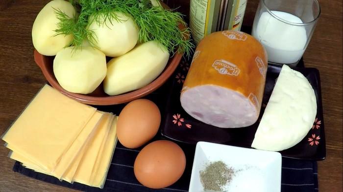 Слоеная картофельная запеканка с ветчиной и сыром С дедом за обедом, Кулинария, Запеканка с картофелем, Вкусно, Еда, Видео, Длиннопост