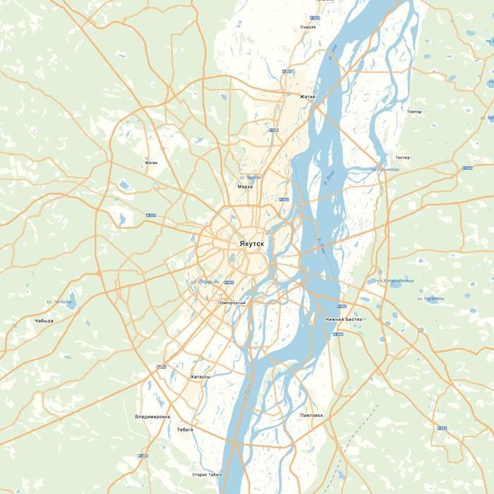 Занимательные карты Якутии География, Якутия, Якутск, Карты, Яндекс карты, Длиннопост