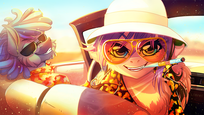 Fear and Loathing in Las Pegasus My Little Pony, Crossover, Страх и ненависть в лас вегасе, Original Character, Limreiart