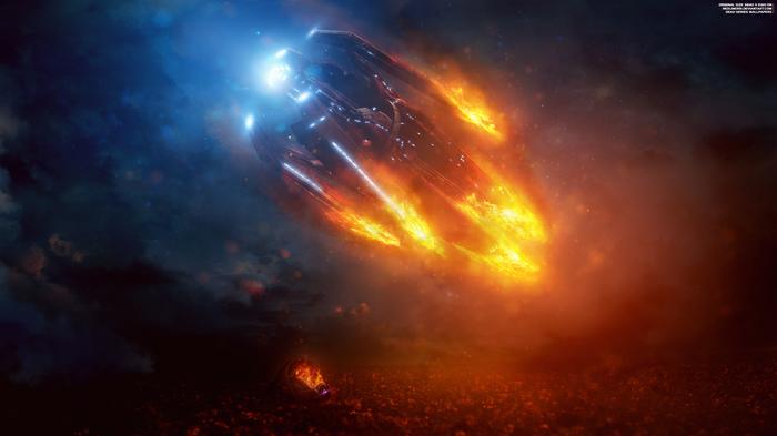 """""""Потерянный ковчег"""" - Mass Effect Andromeda 4K Mass Effect, Mass Effect:Andromeda, Ковчег, Крушение, Кварианцы, Обои на рабочий стол"""