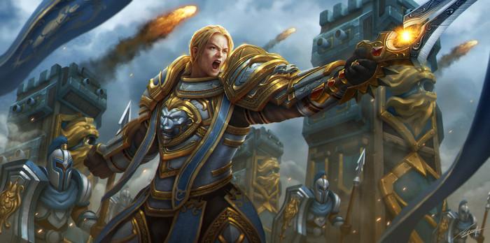 Anduin Llane Wrynn. Арт, Фан-Арт, Картинки, Андуин Ринн, Альянс, WOW, World of Warcraft
