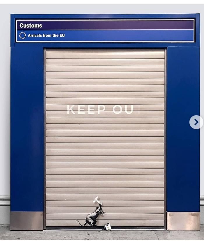 Бэнкси запилил новое граффити в лондонском аэропорту Хитроу Бэнкси, Стрит-Арт, Художник