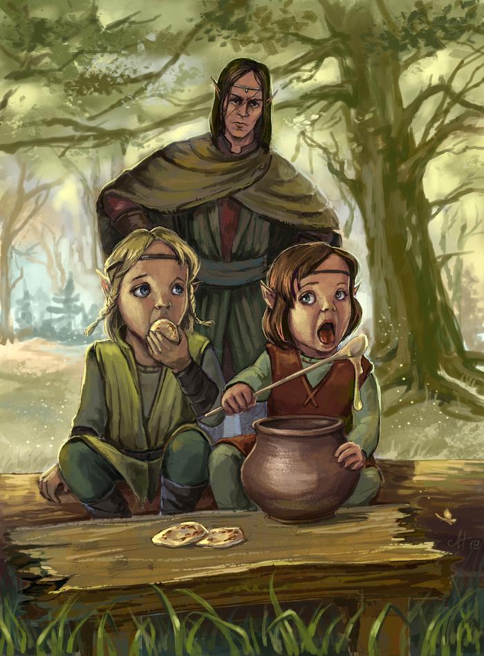 Мед детям не игрушка Ведьмак, The Witcher 3:Wild Hunt, Эльфы, Исенгрим фаоильтиарна, Арт, Фан-Арт