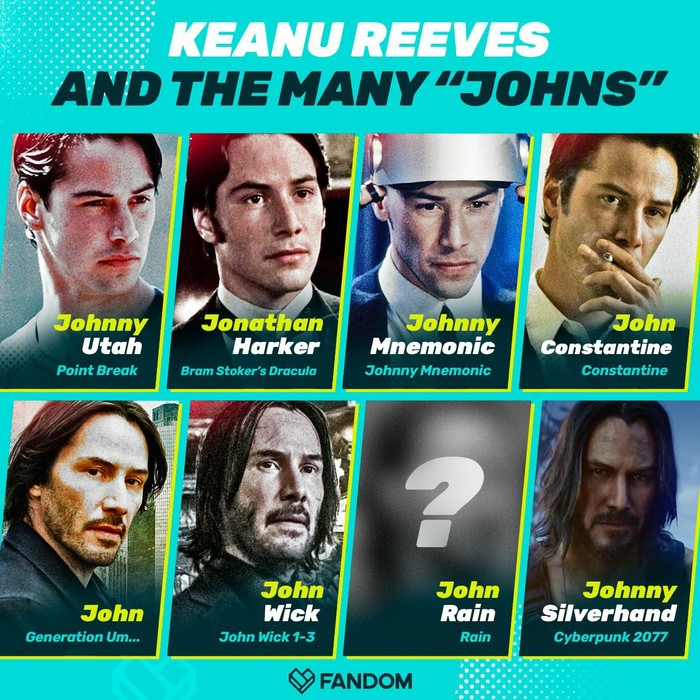 А вы замечали, что многие персонажи Киану являются Джонами?