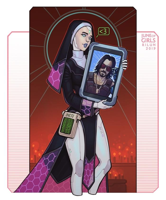 Кибер-монашка и лик бесподобного Киану