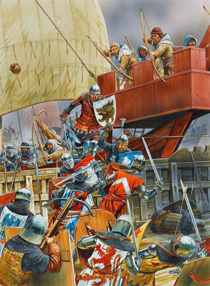Ошибочка вышла Лига историков, Морской бой, Пираты, 14 век, Ошибка, Длиннопост