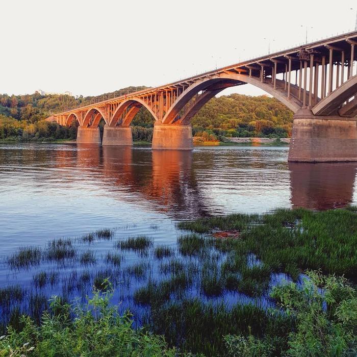 Шикарный вид на мост Мост, Красивый вид, Лето
