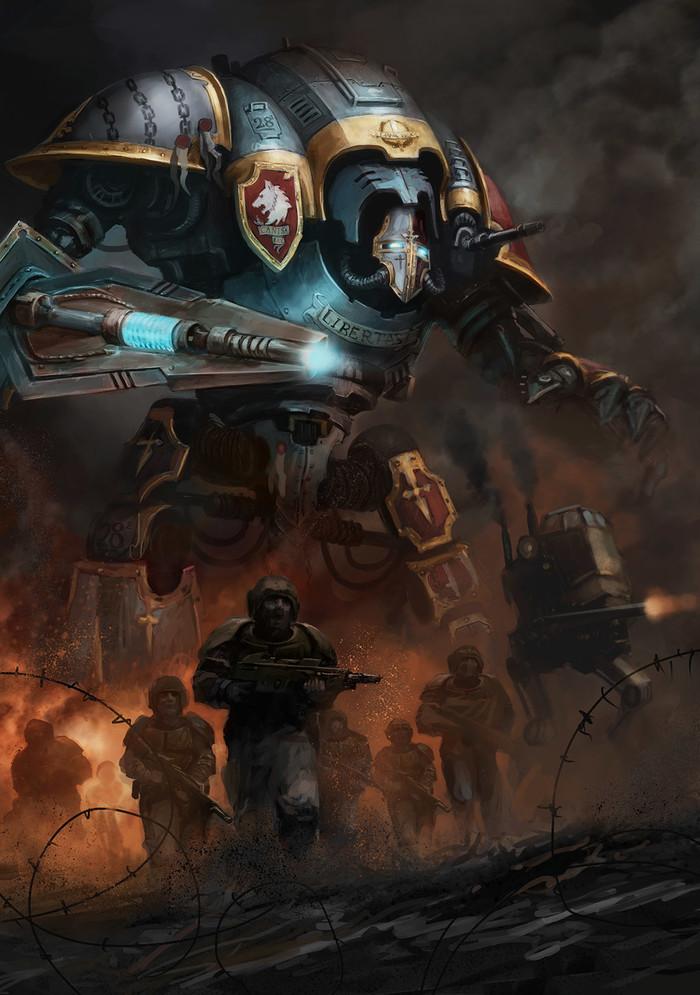 Chainbreaker Freeblade Imperial Knight. Арт, Картинки, Imperial Knight, Имперская гвардия, Wh Art, Warhammer 40k, Catherine OConnor
