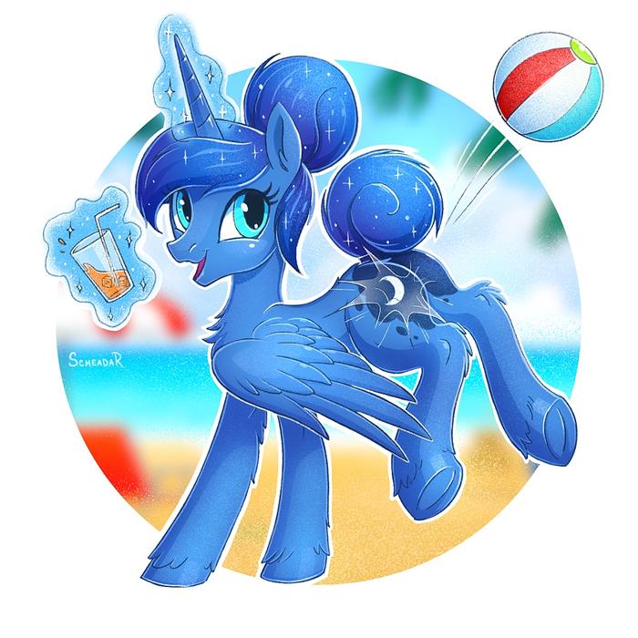 Beach Day My Little Pony, Princess Luna, MLP Edge, Scheadar