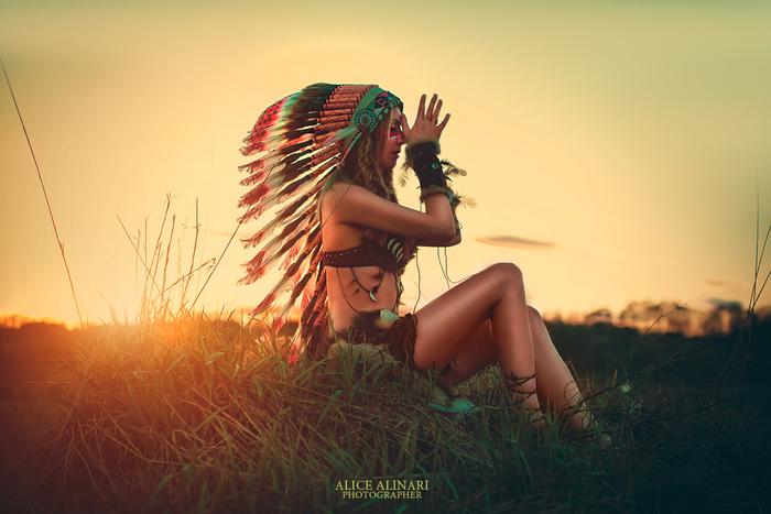 Рассвет Рассвет, Красивая девушка, Красота природы, Индейцы, Фотосессия, Длиннопост
