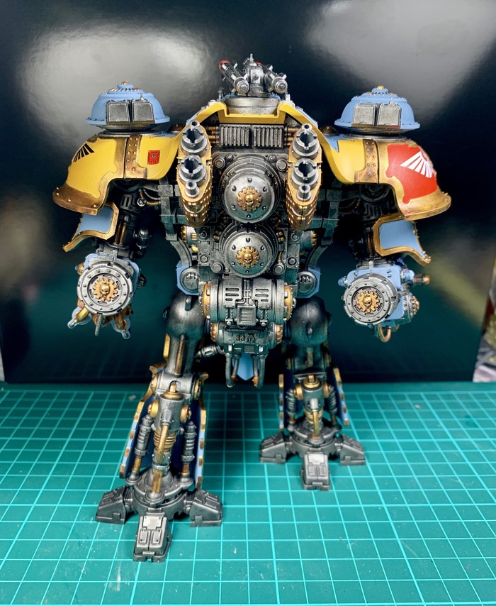 Taranis Imperial Knight по версии Фенриса Wh Miniatures, Imperial Knight, Warhammer 40k, Space wolves, Длиннопост