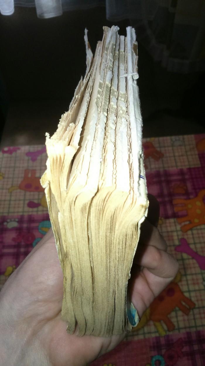 Ремонт книги с изготовлением тканевого переплёта Переплет, Ремонт, Книга своими руками, Длиннопост