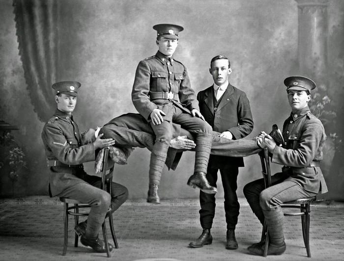 Демонстрация гипноза, 1914 Гипноз, Старое фото, Черно-Белое фото