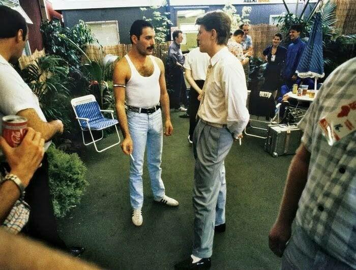 Фредди Меркьюри и Дэвид Боуи, 1985 год