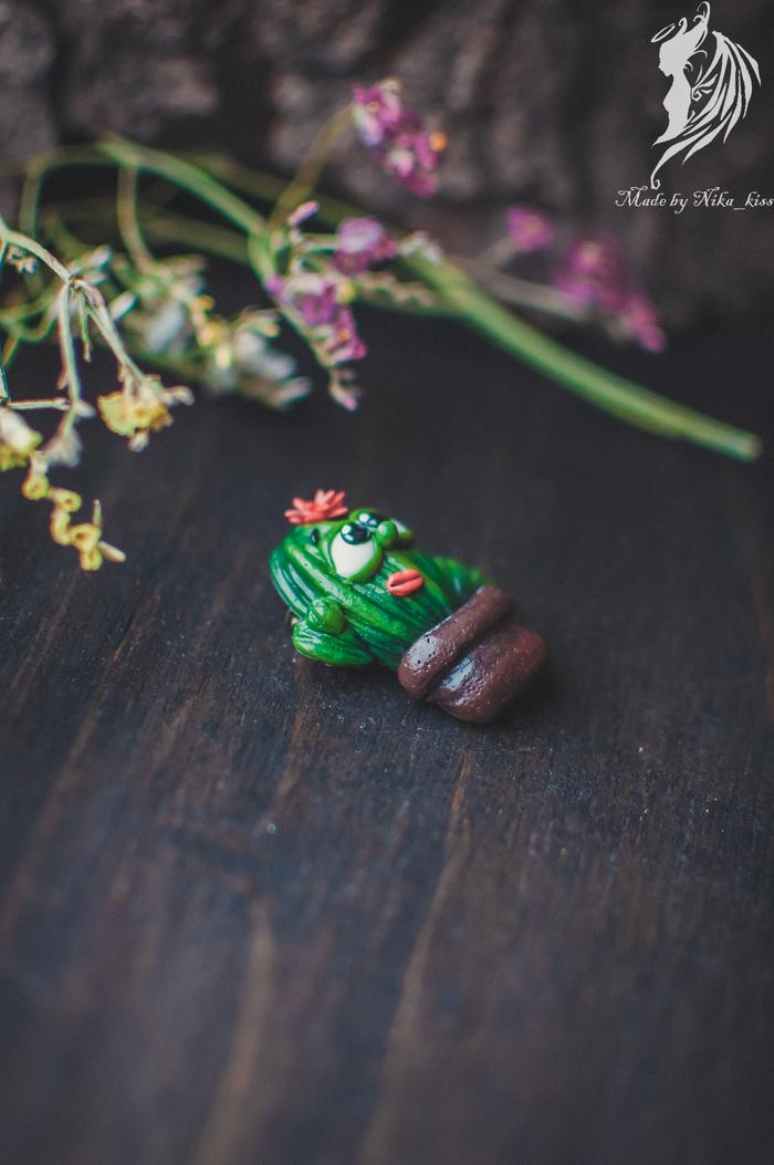 Брошь-кактус из полимерной глины Ручная работа, Рукоделие без процесса, Полимерная глина, Кактус, Длиннопост, Nika_kiss