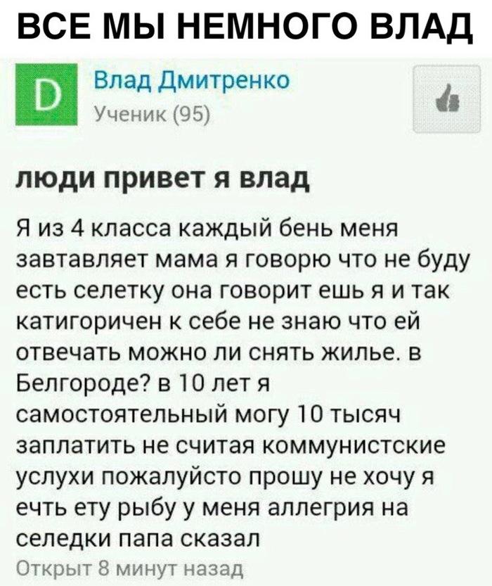 Аллегрия на селедки в условиях коммунистских услух Вконтакте, Картинка с текстом, Mailru ответы