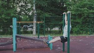 Решил я повторить гифку с Азиатом Спорт, Брусья, Упражнения, Физкультура, Повтор, Попытка, Хлопок, Гифка