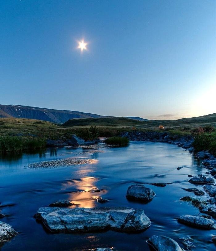 Музды-Булак, плато Укок Фотография, Фотограф, Красивый вид, Природа, Горы, Река, Алтай