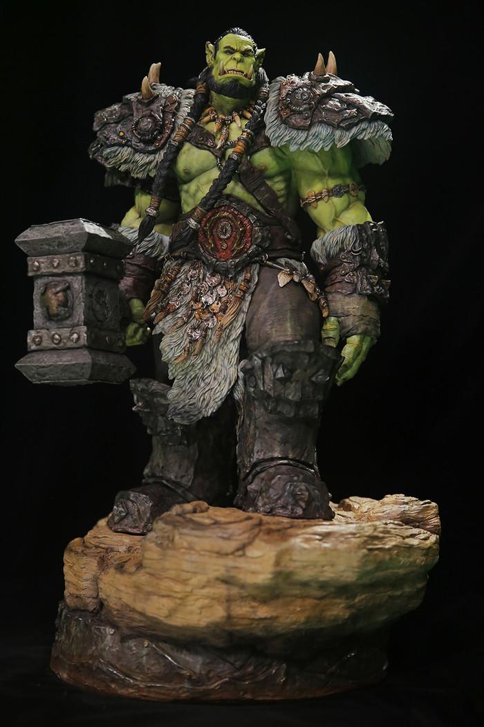 Thrall. Арт, Скульптура, Орда, Орки, Тралл, Длиннопост, Картинки, World of Warcraft, Hao Qin