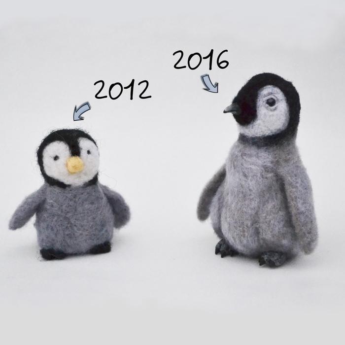 Было-стало. Прогресс за 8 лет валяния Сухое валяние, Сова, Пингвины, Ручная работа, Рукоделие без процесса, Прогресс, Было-Стало