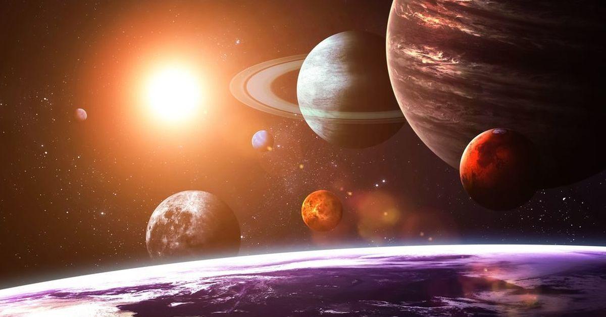 solar system planets - HD3360×1050