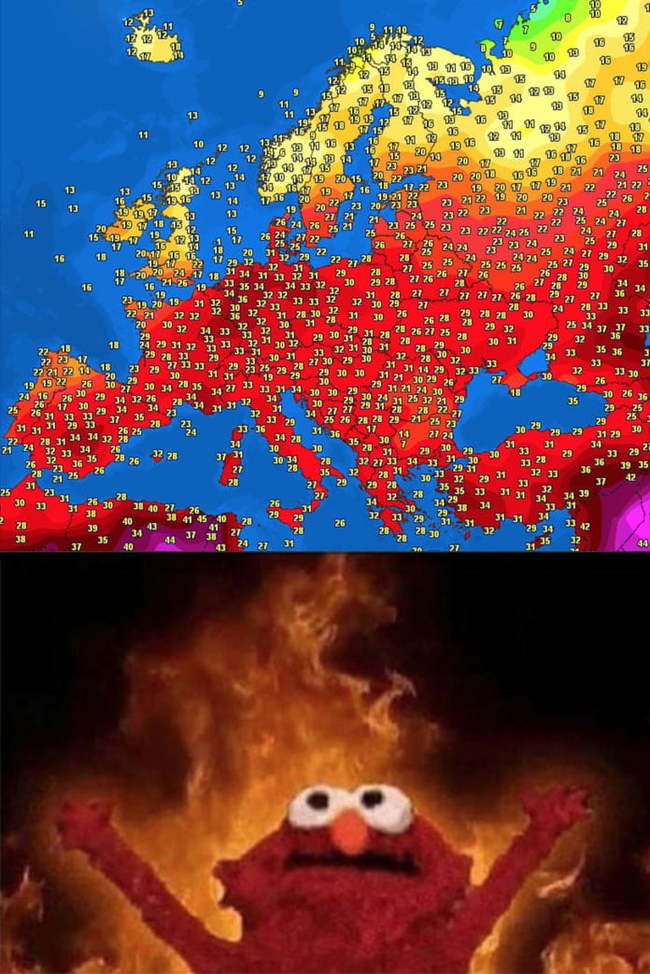 Да будет пекло! Жара, Европа, Температурная карта, Картинки