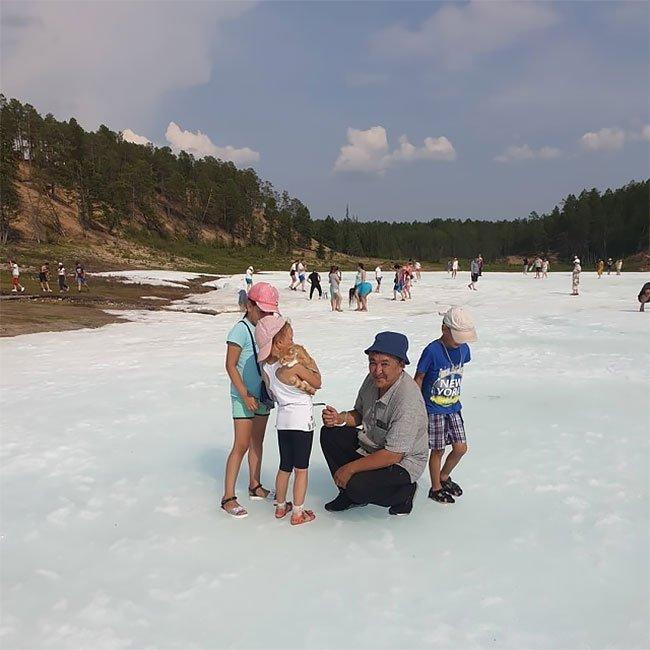 Самый необычный пляж в мире - ледник Булуус в Якутии Фотография, Якутия, Пляж, Длиннопост
