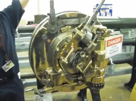 Механизм морской артиллерийской скорострельной пушки 1889 года