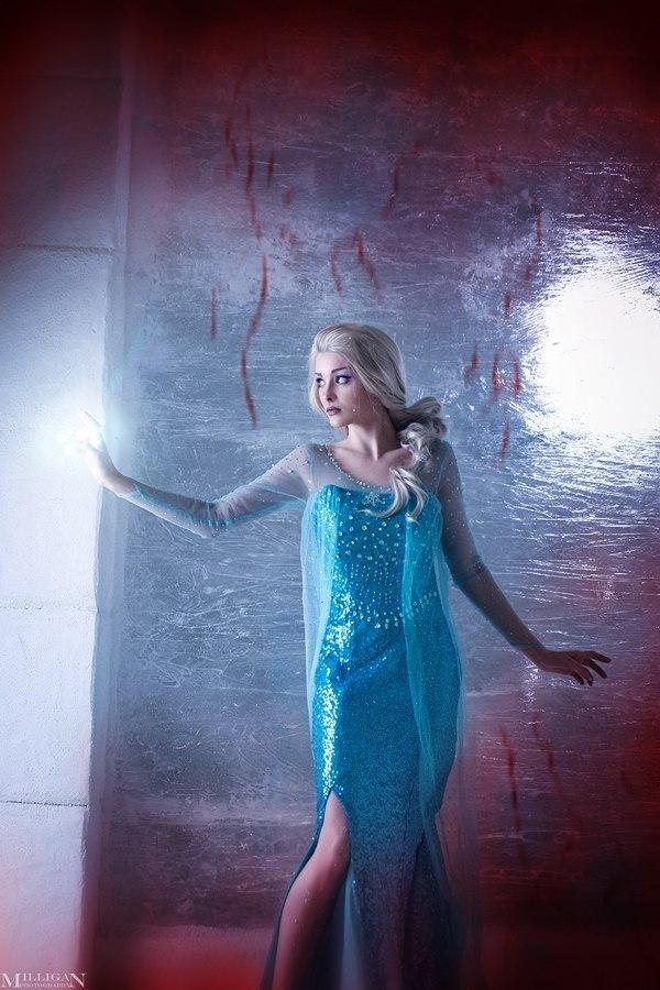 Elsa and Jack Frost / Cosplay Джек Фрост, Косплей, София Летяго, Эльза, Длиннопост