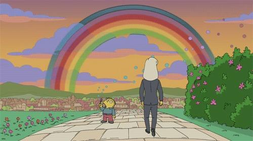 Симпсоны на каждый день [22_Августа] Симпсоны, Каждый день, Радуга, Двойная Радуга, Гифка, Длиннопост