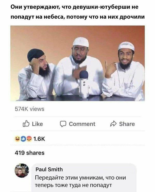Умники Комментарии на Пикабу, Исламисты, Длиннопост, Скриншот