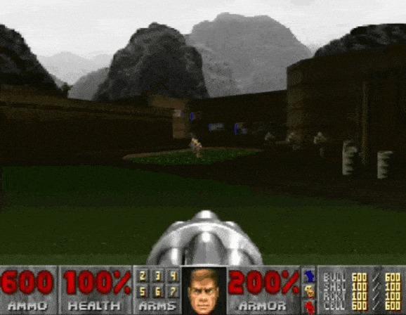 Новый Doom на движке Doom 2 Doom 2, Мод, Doom, Видео, Гифка