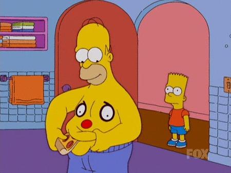 Симпсоны на каждый день [20_Сентября] Симпсоны, Каждый день, Пицца, Пепперони, Гифка, Длиннопост