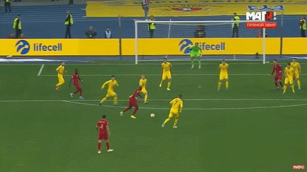 Сборная Украины тоже на Евро 2020! Спорт, Футбол, Евро 2020, Сборная Украины, Обзор, Сборная Португалии, Гифка, Длиннопост