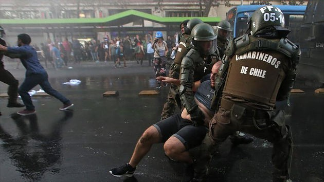 Протест в Чили Чили, Южная Америка, Протест, Пожар, Беспорядки, Длиннопост, Негатив