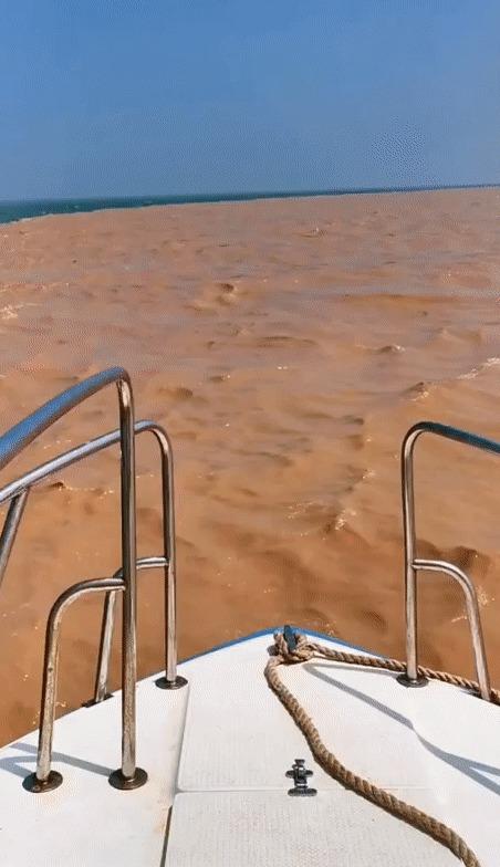 Встреча двух рек Амазонка, Река, Гифка, Течение